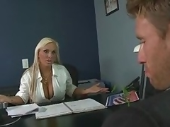 Big Tittied Blonde MILF Holly Halston Deep Throats a Politician's Cock