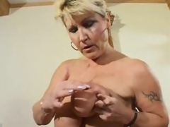 Striptease from a overweight natural mature