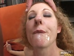 Weenie hungry milf Annie Body sucks hard for a mouthfull of cum