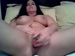 Mature doxy loves being alone so this babe can use her vibrating sex-toy to fuck her juicy cunt in this amateur masturbation movie clip. See her treat her cunt to a fucking session on her own.