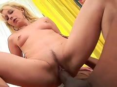 Blonde slim mature granny Koko Blonde acquires a biggest dark jock deep in her driping wet holes