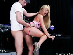 Tasha Reign with smooth slit having sex fun with hot chap Xander Corvus