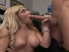 Billy Glide is one hard-dicked man who can't live out of oral sex with Golden-haired with biggest hooters and hairless snatch