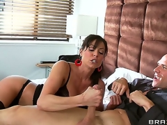 Johnny Sins is bedridden and his only contact with the world is a smoking hot nurse Kendra Lust who can't live out of taking care of him, especially if it means engulfing that giant cock!