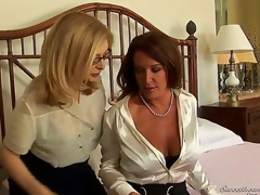 What could possibly be hotter than 2 carpet munching milfs getting together and fucking like theres no tomorrow Nina Hartley and Rachel Steele are horny as hell and ready!