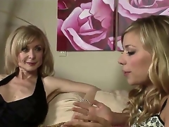Nicole Ray and Nina Hartley are quite fond of their own sex and we can see 'em here slowly hitting on every other and awaiting the situation to escalate.