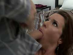 Veronica Avluv would never pass the chance of having a meaty dick in her mouth. That babe loves getting orally fucked hardcore. James Deen knows this and he gives the horny mama what shes been craving for.