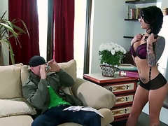 When this dark brown undresses down to her greater amount than sexy lingerie, shes going to have the full aroused attention of, Johnny Sins. This chab looks at Christy Mack in a way of raw desire.