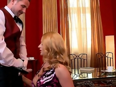 Cathy Heaven just rocks that cock like that babe owns it! This day that babe plays a rich, married seductress, and David Perry is her Butler, and hes got some Grade A butt lovin beef on the menu for Cathy!