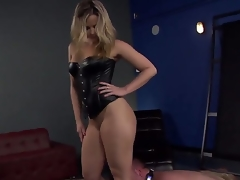 Nice-looking and truly sexy master blonde Alexis Texas with amazing shaped body and hot large ass makes her serf lad Jeremy Conway crawl and take up with the tongue her heels on the floor