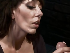 Desperate MILF with giant scones is reduced to an object of desire and torture when that hottie tries to entice a urinated off and perverted mechanic! Fantastic skillful milf with unfathomable throat!
