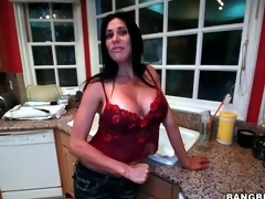 Big mounds housewife strips and masturbates