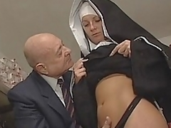 Nun & Indecent old man. No sex