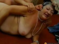 Aunt in a cap bonks chap