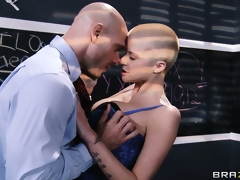 Professor Fucky can't live without licking and engulfing nipples to get her soaking wet