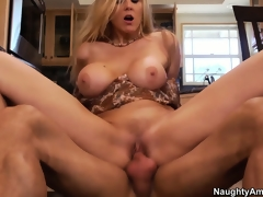 Julia Ann is getting fucked all over her fresh kitchen breaking it in