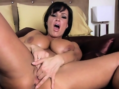 Awesome busty doxy Lisa Ann is reforming the entire masturbation genre
