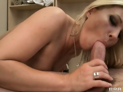 The mature hottie rides that big cock and her body shivers with pleasure