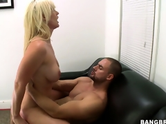This honey rides him like a cowgirl and gets drilled hard, ass up and spread wide