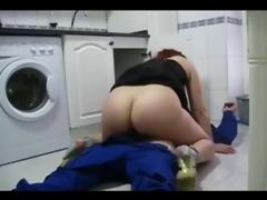 Sexy pettifoggery wife fucks the plumber
