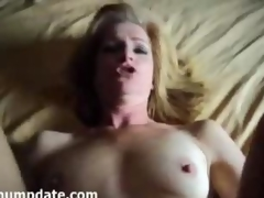Mature gets rammed and face covered round jizz