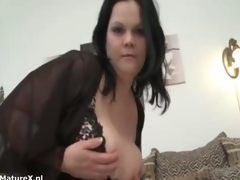Nasty mature bbw whore shows her ass off