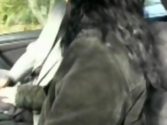 Cecile fucked in say no to car