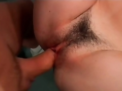 Sexy Brunette hair MILF Nadia Fantasies Gets Her Hairy Pussy Screwed At The Gym