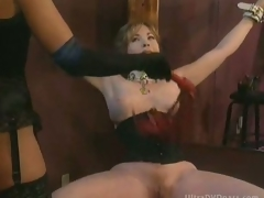 Busty Tractable Mature Gets Tied Up and Whipped By Super Hot Domina